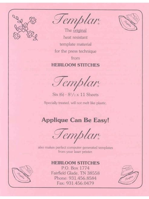Templar Heat Resistant Template Sheets For Laser Printers