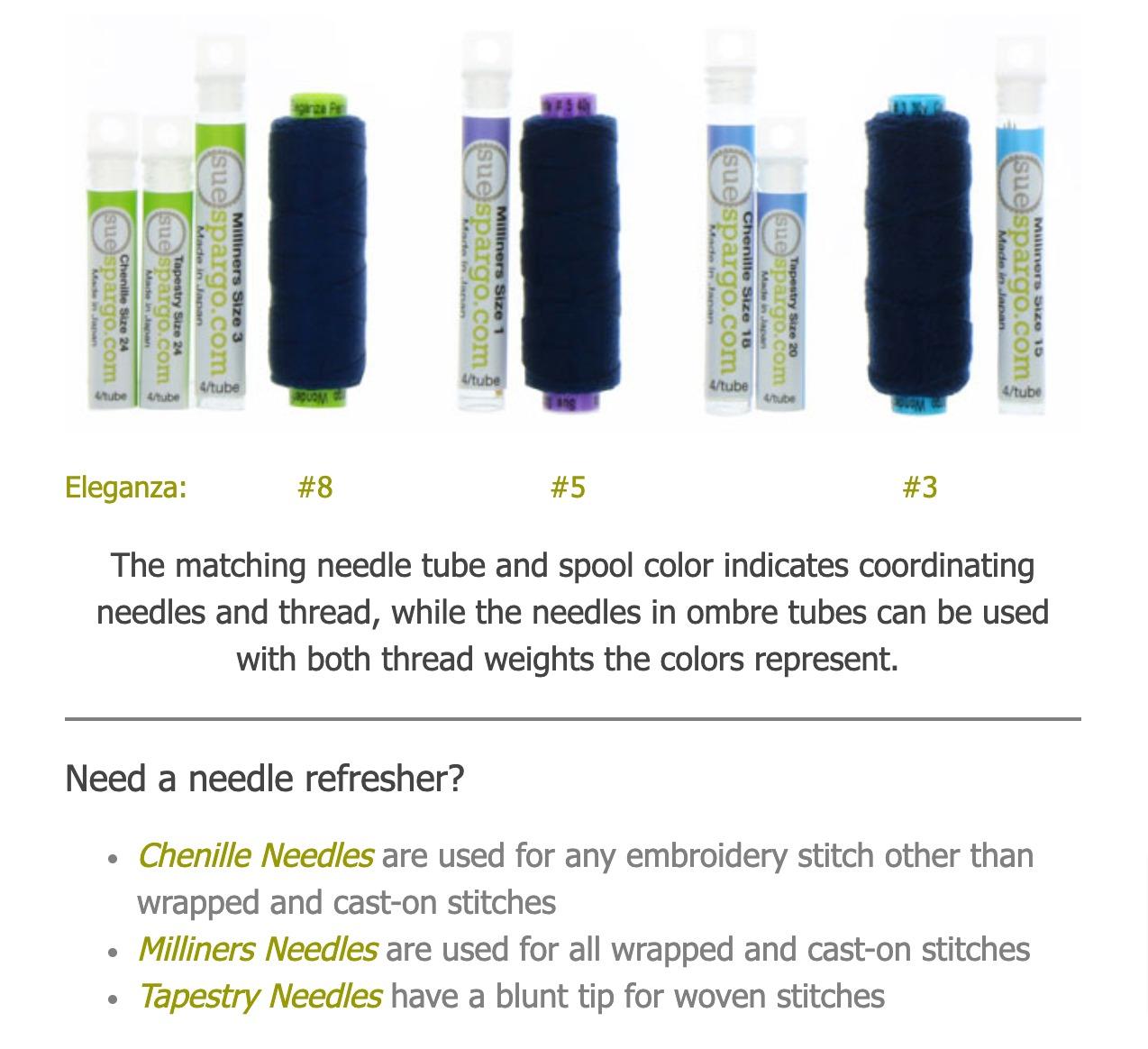 Sue Spargo Know your needles