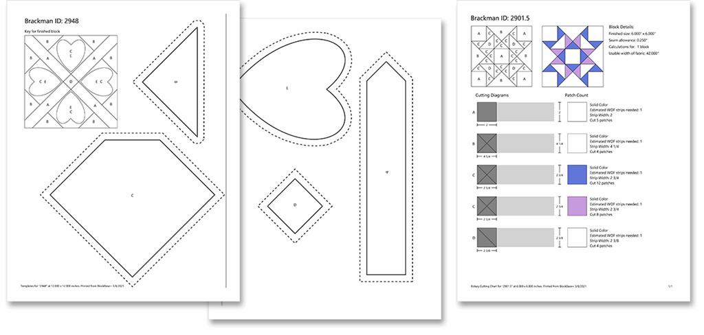 BlockBase+ Template and Rotary Cutting Printouts