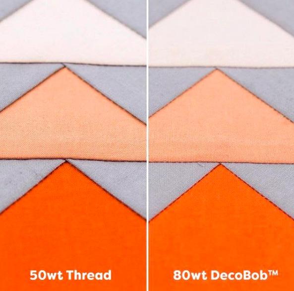 50wt thread v Decobob 80wt thread seams