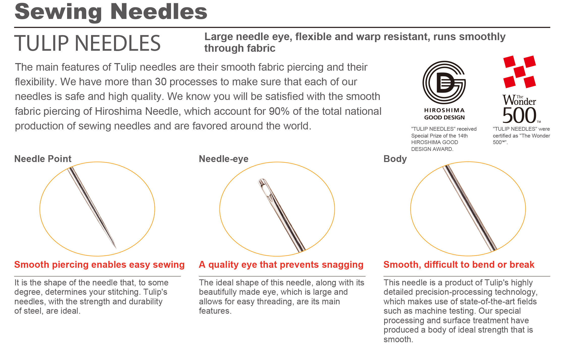Tulip Sewing Needles
