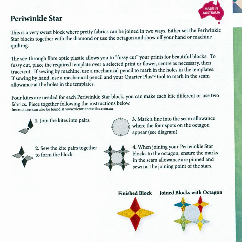 matilda s own periwinkle star patchwork template set by matilda s own