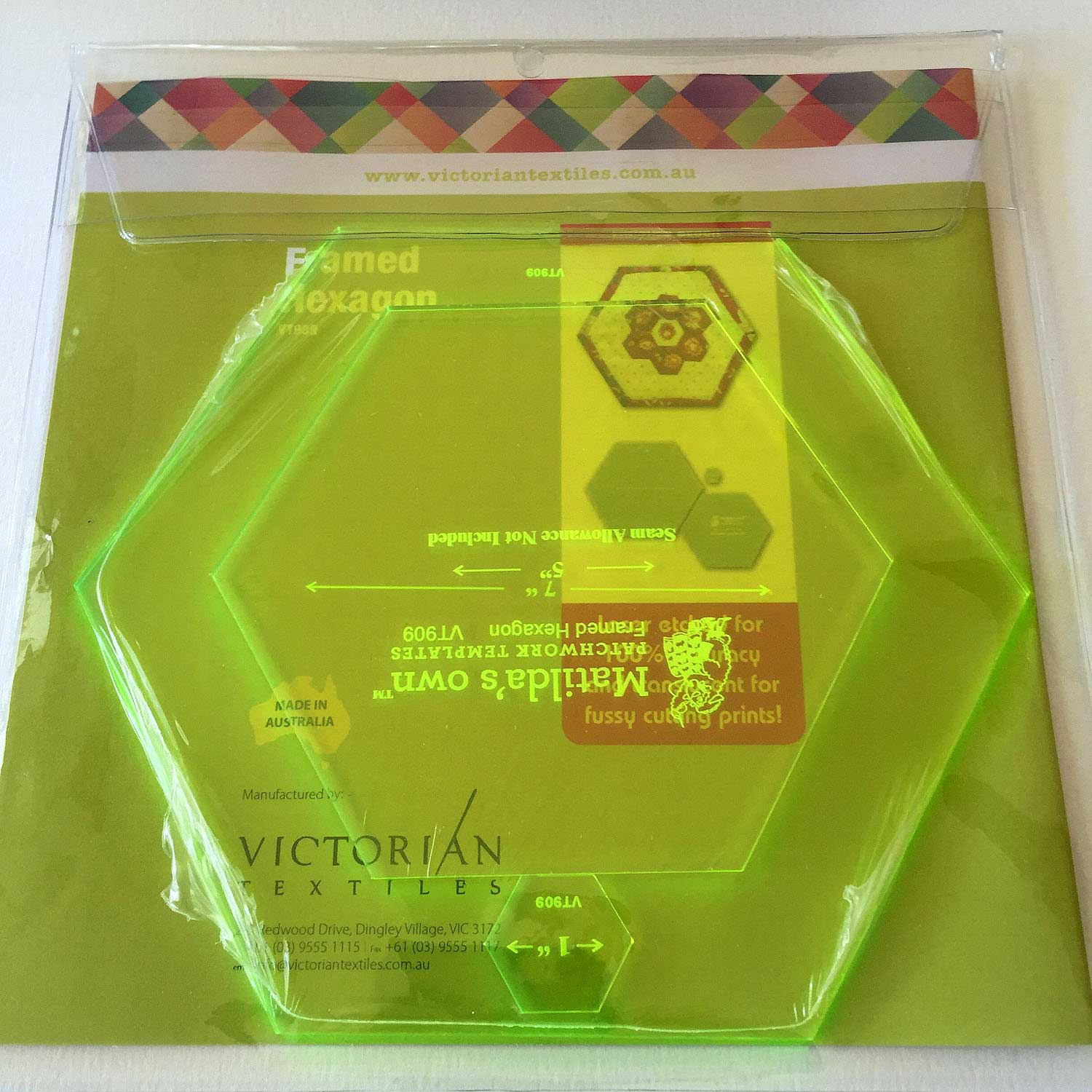 Matilda S Own Framed Hexagons Quilt As You Go Patchwork