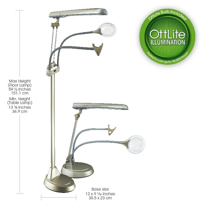 Ott Lite Ultimate 3 In 1 Craft Lamp