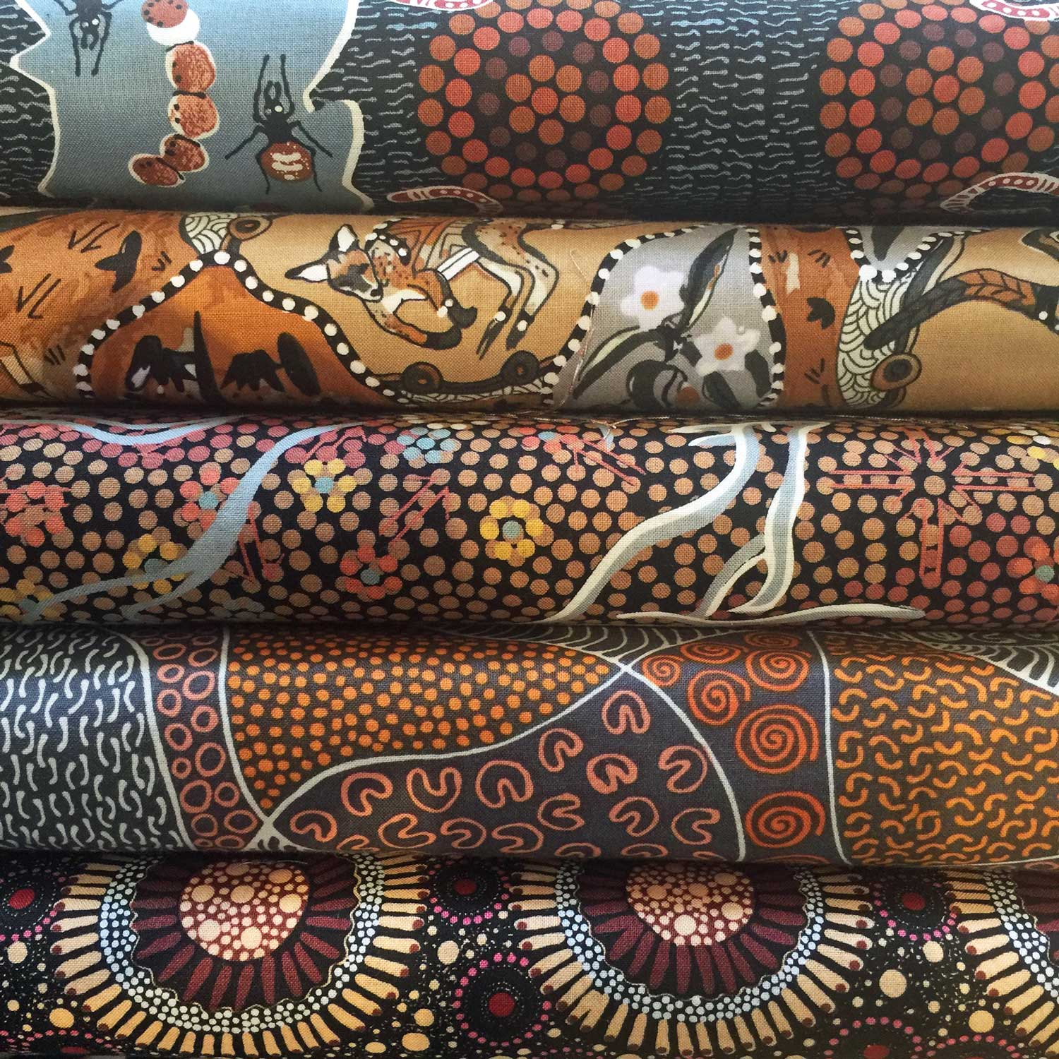 Aboriginal Art Fabric 10 Pieces 2 5 Quot Strips Jelly Roll