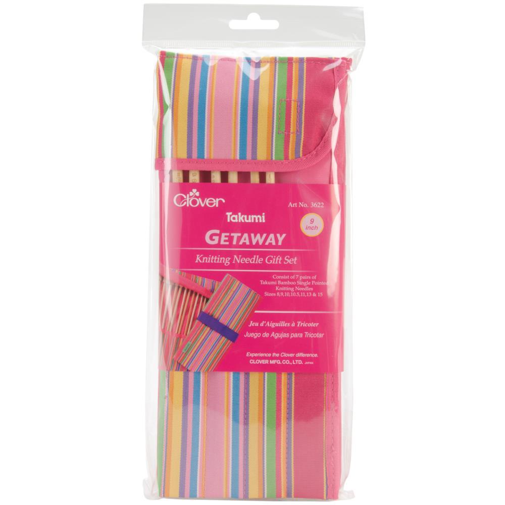 Knitting Gift Set : Clover getaway takumi bamboo quot knitting needle piece