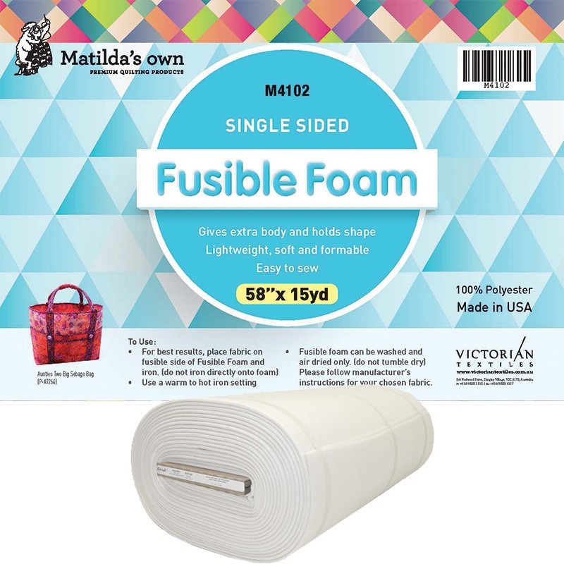 Matilda's Own Single Sided Fusible Foam 147cm wide