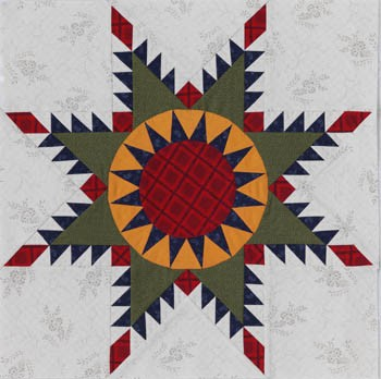 Feathered Star by Marsha McCloskey OzQuilts