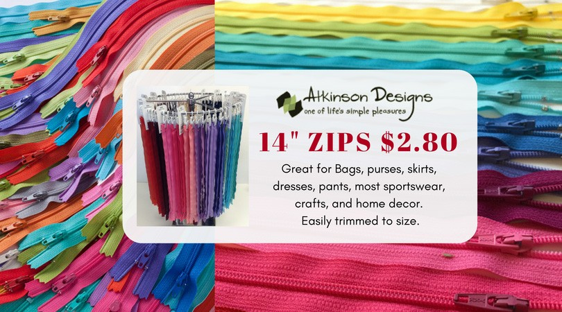 CANVA Zippers 14""
