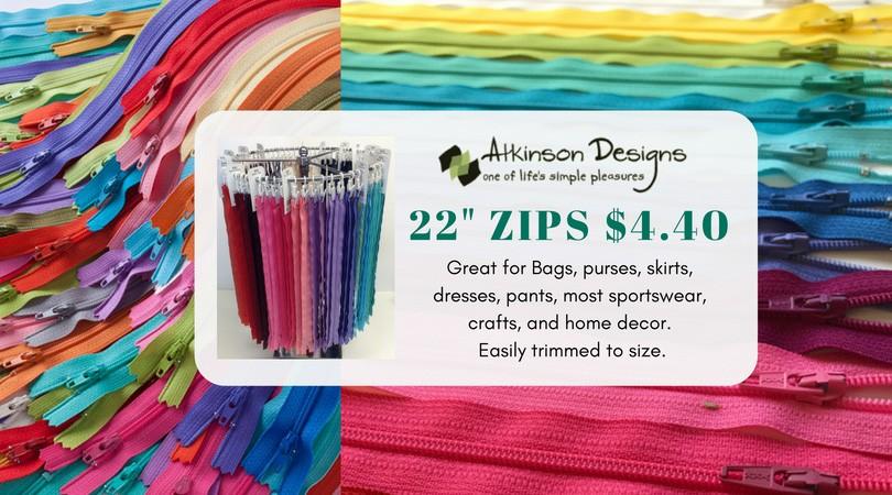 """Zippers 22"""""""