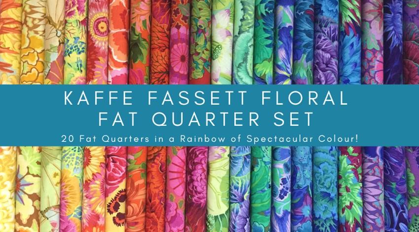 Kaffe Fassett Rainbow FLoral Fat Quarter Banner