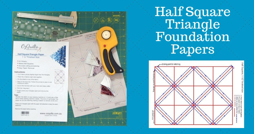 MAIN BANNER Half Square Triangle Foundation Paper