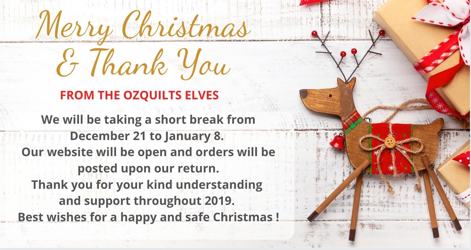 Christmas 2019 Thank you