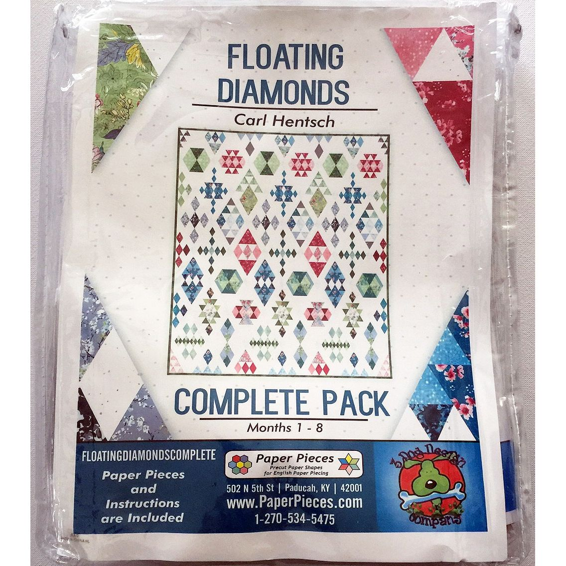 Floating Diamonds Complete Paper Piecing Pack by Carl Hentsch