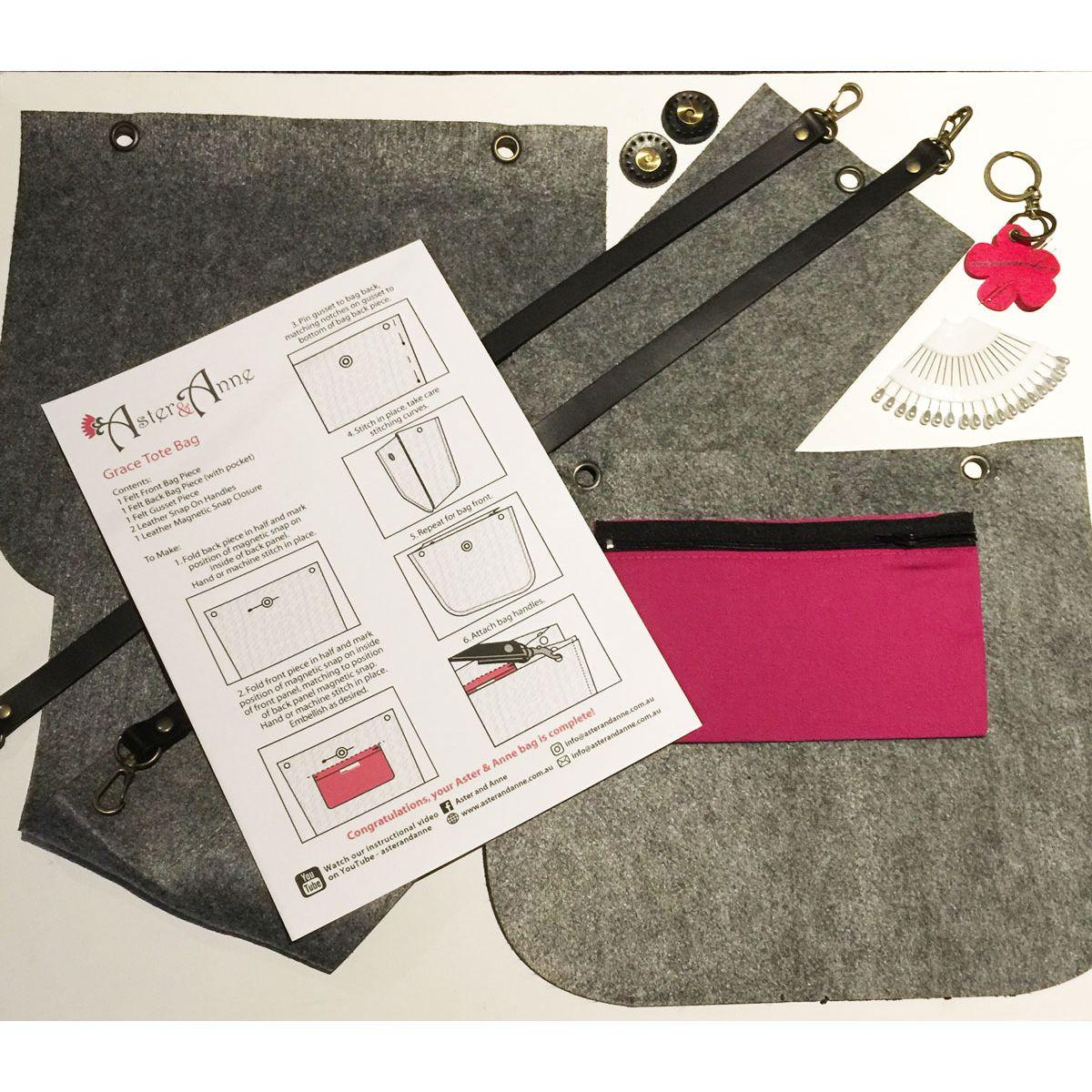 Aster & Anne Grace Tote Felt Bag Kit