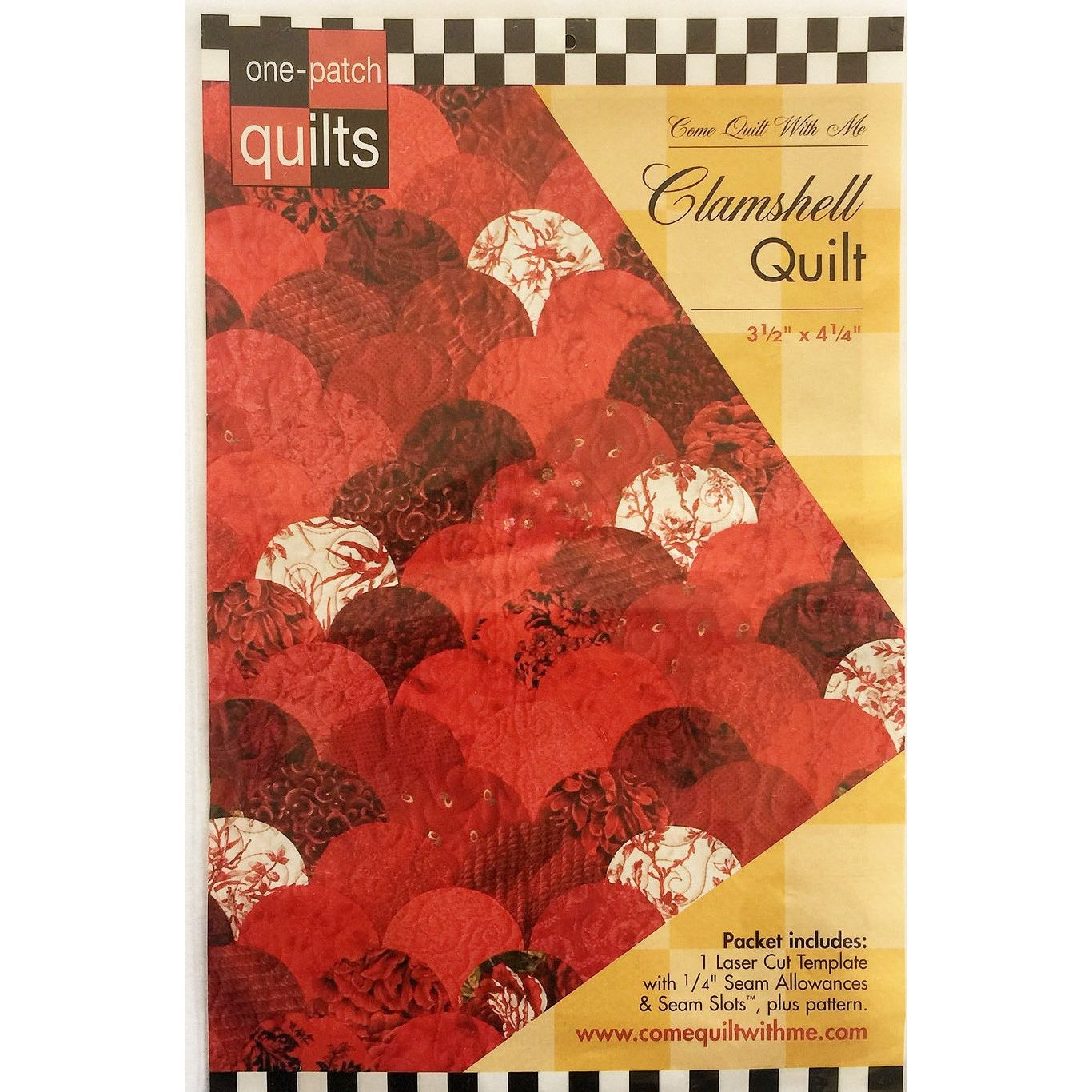 Clamshell One Patch Pattern & Template by Come Quilt with Me : patch it to me quilt - Adamdwight.com