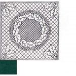 """Premarked Fabric Holly Wreath Dark Green 16.5"""" square by The Stencil Company Kits - Wholecloth Premarked Fabric  - OzQuilts"""