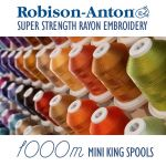Robison-Anton Rayon Embroidery Thread 1100 yards (1000 metres) by Robison-Anton Thread Robison Anton Embroidery Thread - OzQuilts