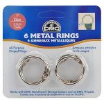 "DMC 1"" Metal Rings (6) by DMC Embroidery Embroidery - OzQuilts"