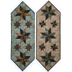 Mini Stars Table Runner Pattern and pre-printed Foundation Papers by Quiltworx by Quiltworx Judy Niemeyer Quiltworx - OzQuilts