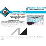 "Quick Quarter 8"" Ruler by Quilter's Rule International Quilt Blocks - OzQuilts"