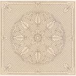 """Pre-Printed Wholecloth Quilt Top Welsh Beauty Natural 40"""" x 40"""""""