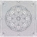 "Pre-Printed Wholecloth Quilt Top Welsh Beauty White 40"" x 40"" by Benartex Wholecloth Premarked Fabric Kits - OzQuilts"