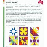 "Matilda's Own 12"" 9 Patch Star Patchwork Template Set by Matilda's Own Quilt Blocks - OzQuilts"