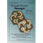 Triangle Frenzy Hexagon Table Runner & Tree Skirt Pattern by Artistically Engineered Designs Christmas - OzQuilts