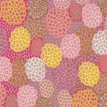 Dancing Flowers Pink Australian Aboriginal Art Fabric by June Smith by M & S Textiles Cut from the Bolt - OzQuilts