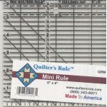 Quilter's Rule Mini 6 inch x 6 inch Ruler