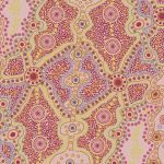 Yalke Red Australian Aboriginal Art Fabric by June Smith by M & S Textiles Cut from the Bolt - OzQuilts