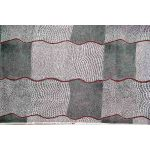 Bush Onion Dreaming Black Australian Aboriginal Art Fabric by M & S Textiles Cut from the Bolt - OzQuilts