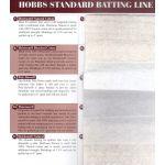 Hobbs Batting Sample Card by Hobbs Batting Pre-Cut Batts - OzQuilts