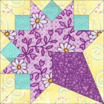 "Matilda's Own 12"" Bride's Bouquet Patchwork Template Set by Matilda's Own Quilt Blocks - OzQuilts"