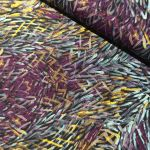 Bush Yam Purple Australian Aboriginal Art Fabric by Jeannie Pitjara by M & S Textiles Cut from the Bolt - OzQuilts