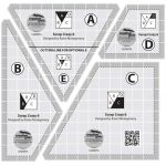 "Creative Grids 6"" Scrap Crazy Templates by Creative Grids Quilt Blocks - OzQuilts"