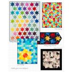 """Scrap Crazy 6"""", 7 projects made using the Creative Grids Scrap Crazy 6 Templates by  Pre-cuts & Scraps - OzQuilts"""