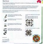Matilda's Own Black Forest Patchwork Template Set by Matilda's Own Quilt Blocks - OzQuilts