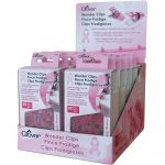 Clover Wonder Clips , 50 Pink Clips for Breast Cancer Awareness by Clover Wonder Clips & Hem Clips - OzQuilts