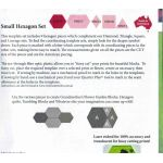 Matilda's Own Small Hexagon Patchwork Template Set by Matilda's Own Geometric Shapes - OzQuilts