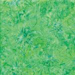 Benartex Bright Green Orchid Batik by Benartex Batik - OzQuilts