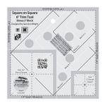Creative Grids Square on Square 6in Trim Tool by Creative Grids Square It Up Rulers - OzQuilts