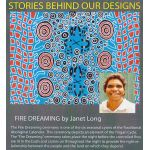 Fire Dreaming Red Australian Aboriginal Art Fabric by Janet Long by M & S Textiles Cut from the Bolt - OzQuilts