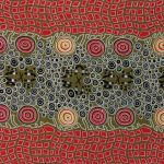 Fire Dreaming Olive Australian Aboriginal Art Fabric by Janet Long by M & S Textiles Cut from the Bolt - OzQuilts