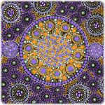 Fresh Life After Rain Purple Australian Aboriginal Art Fabric by Christine Doolan by M & S Textiles Cut from the Bolt - OzQuilts