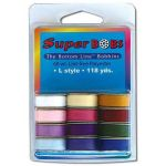 Bottom Line Thread Prewound Bobbins Set 1 Jewel And Pastel Colours by Superior Bottom Line Thread Bottom Line Thread Bobbins - OzQuilts