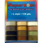 Bottom Line Thread Prewound Bobbins Set 2 Natural and Earth Colours by Superior Bottom Line Thread Bottom Line Thread Bobbins - OzQuilts