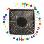 Zirkel Magnetic Pin Cushion , Black Colour by Zirkel Organisers for Pins - OzQuilts