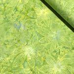 Benartex Lime Green Orchid Batik by Benartex Batik - OzQuilts